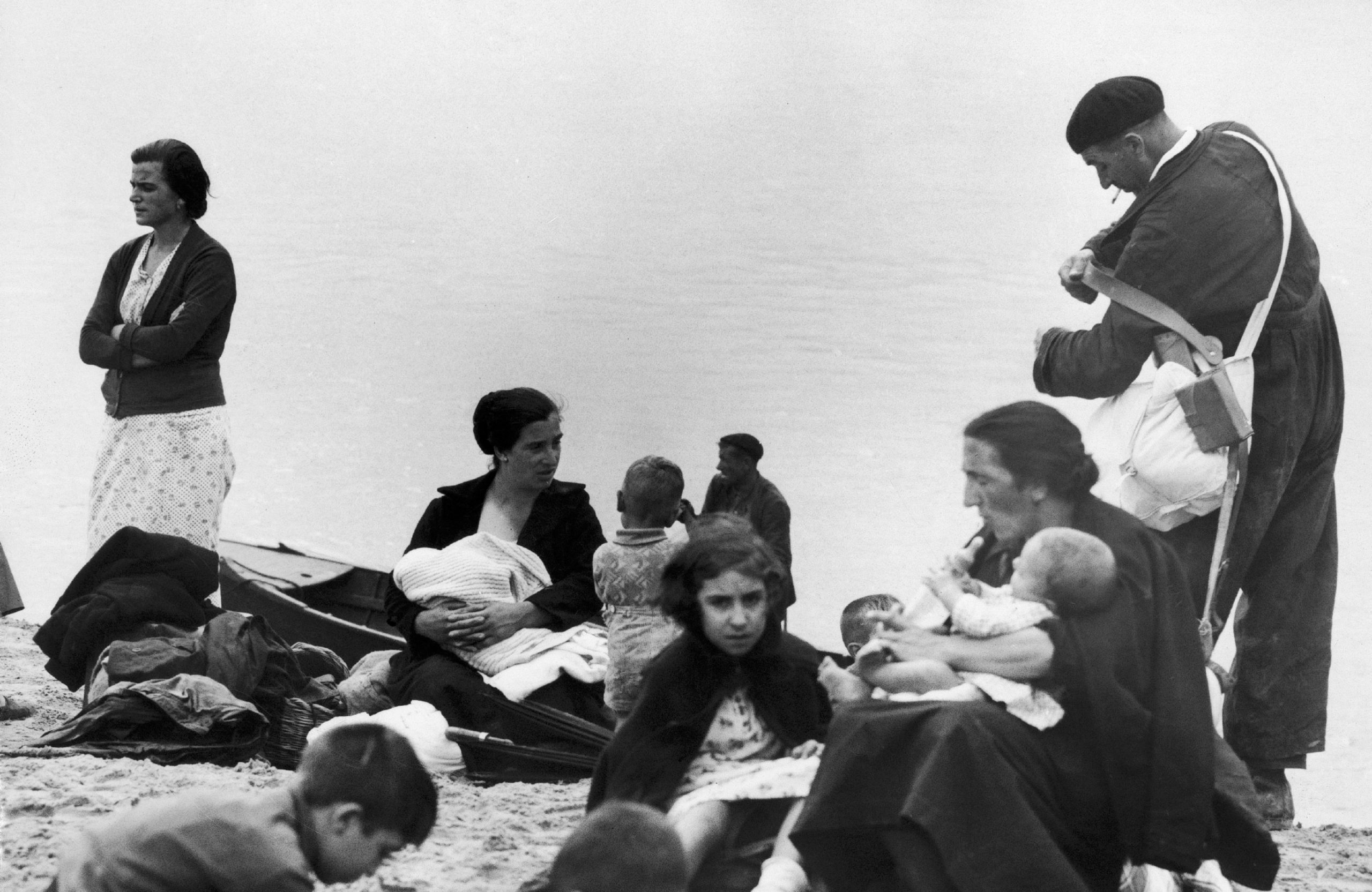 Spanish Refugees After Irun Was Seized In 1936