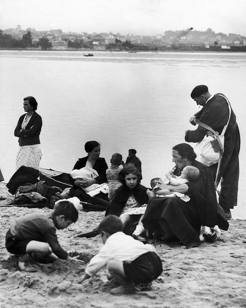Irun ondoren espainiar errefuxiatuak atxilotu zituzten 1936an